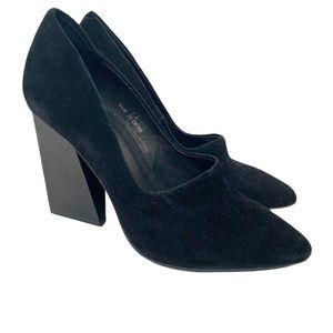 Jeffrey Campbell Larilisa Black Suede Block Heels